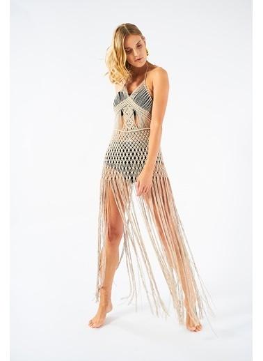 Women&Women Makrome Elbise Bej